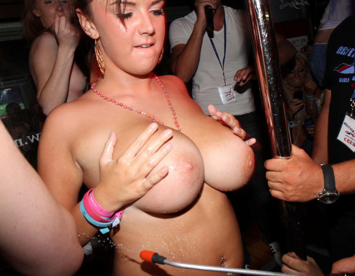 Big boobs stripped